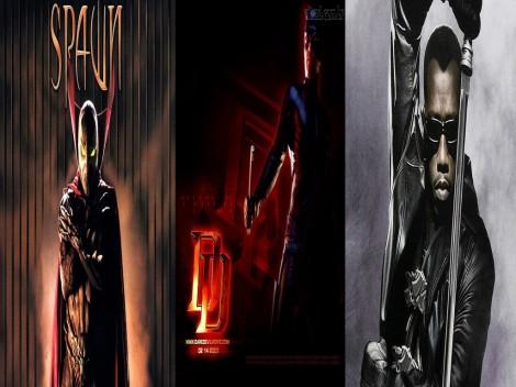 Filmes (Blade, Demolidor, Spawn)