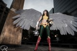 Hawkgirl [Mulher Gavião], cosplayed by Gina B, photographed by AtlasPhotography