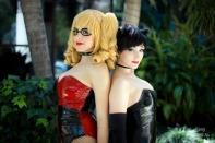 Nadyasonika Cosplay Harley Quinn and Jennifer Van Damsel cosplay Catwoman (Bunnysuit version) 1