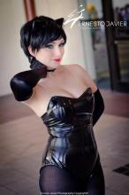 Nadyasonika Cosplay Harley Quinn and Jennifer Van Damsel cosplay Catwoman (Bunnysuit version) 6