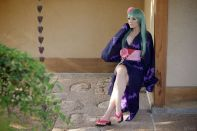 Jessica Nigri Cosplay como Morrigan de Yukata