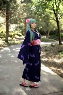 Jessica Nigri Cosplay Morrigan Yukata sexy gostosa ecchi (6)