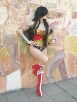 LadyLemon cosplay wonder woman mulher maravilha sexy gata (4)