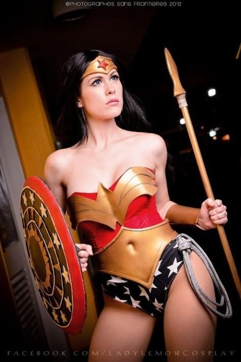 LadyLemon cosplay wonder woman mulher maravilha