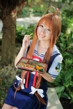 sanae-san saki chan Clannad cosplay 1