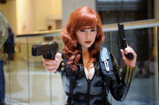 Alexia Jean Grey viuva negra cosplay gata 5