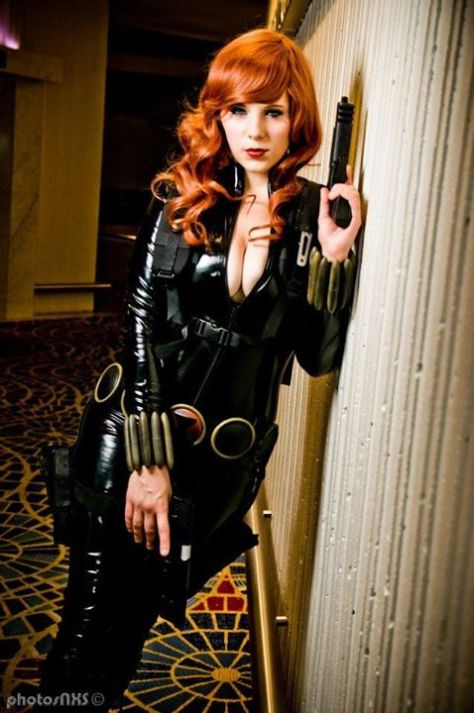 Alexia Jean Grey Viúva Negra cosplay (Black Widow)