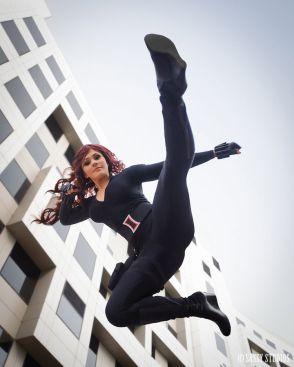 Charlotte Clark cosplay black Widow viuva negra sexy
