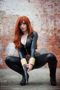 Katyuska MoonFox cosplay Viúva Negra (Black Widow)