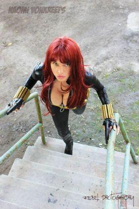 Naomi Von Kreeps Cosplay viuva negra peitoes gostosa 3