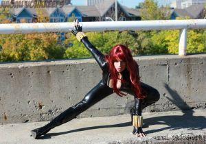 Naomi Von Kreeps Cosplay Viúva Negra (Black Widow)