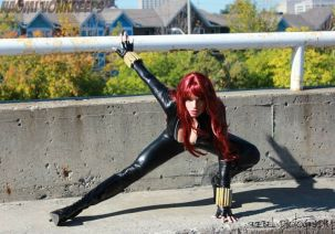 Naomi Von Kreeps Cosplay Viúva Negra (Black Widow)