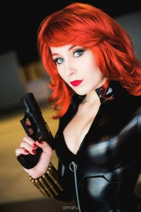 Nikita Cosplay Black Widow viuva negra gata sexy 1