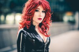 Nikita Cosplay Black Widow viuva negra gata sexy 4