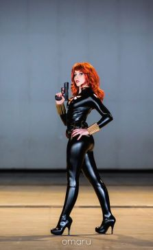 Nikita Cosplay Black Widow viuva negra gata sexy 5