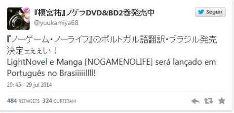No Game No Life - Mangá e Light Novel serão publicados no Brasil