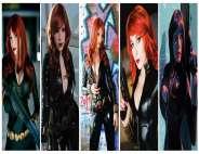 Viuva Negra Cosplay Black Widow wall