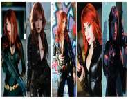 Viuva Negra Cosplay Black Widow wall