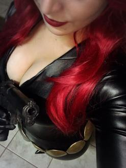 viuva negra starship cosplay big tits gostosa