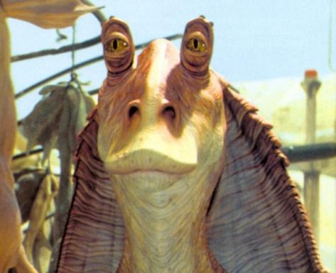 Jar Jar Binks... Por que George Lucas.. por quê?