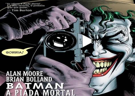 Na verdade o próprio Tim Burton fala que leu e adorou a Piada Mortal, como vocês podem ver na Capa dela!