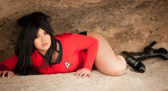 Ivy Doomkitty Uhura cosplay (Star Trek)