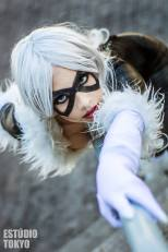 Polly Cosplay gata negra black cat sexy 2
