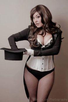 Ani-mia Zatanna Cosplay gata sexy 6