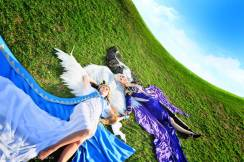 Cosplay Urd Lady-narven e Cosplay Belldandy Selora