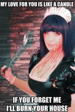 KANA maid terror cosplay gostosa
