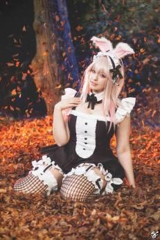kana super sonico coelhinha maid cosplay