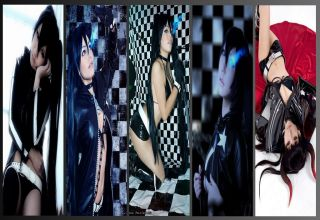 black rock shooter cosplay wall