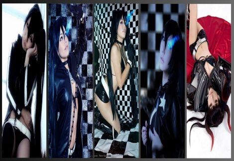black rock shooter cosplay wall