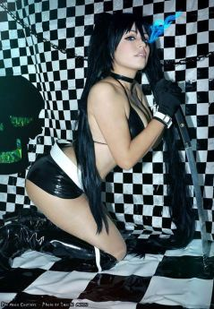 Cosplay Blackrock shooter sexy ecchi gostosa Plu Moon