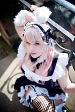 kana super sonico bunny coelhinha cosplay gostosa