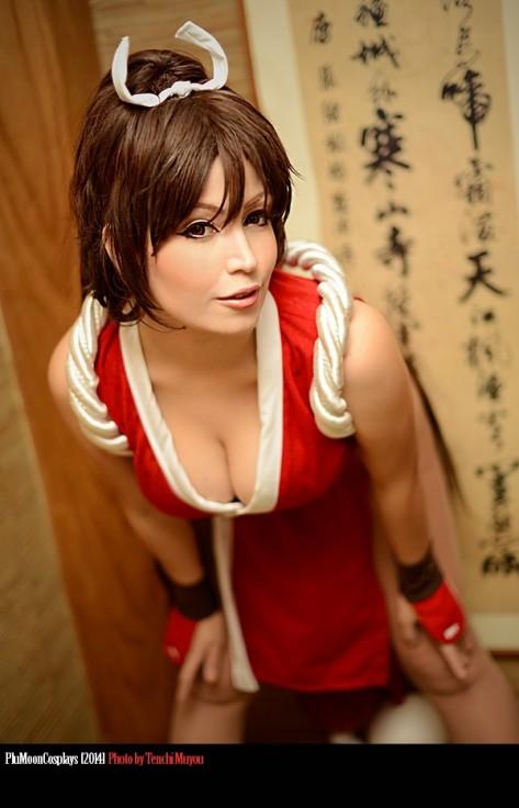 Mai shiranui cosplay sexy ecchi Plu Moon