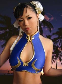 Elin-Kuzunoha Chun li Cosplay gata 7