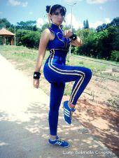 Luna Gabriella chun li gata cosplay 6