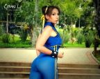 Luna Gabriella chun li gata cosplay