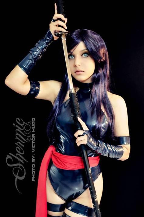 Cosplay Psylocke Shermie (Brasil)