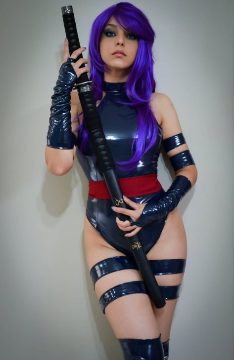 Psylocke cosplay sexy gostosa shermie (3)