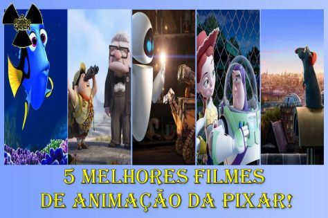 5 Melhores Filmes de Animação da Pixar