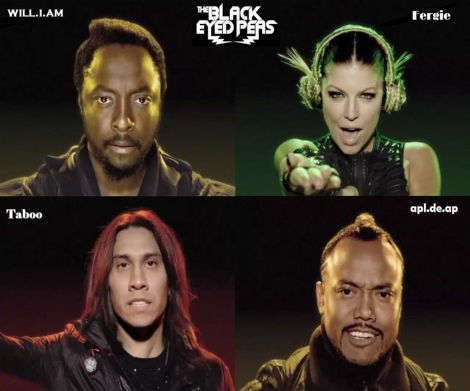 black eyed peas wall