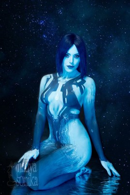 Cortana Cosplay nadyasonika