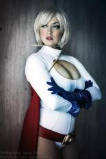 Cosplay power girl big tits sexy Jaycee (7)