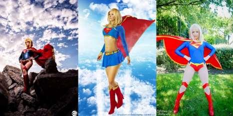 cosplay super girl wall