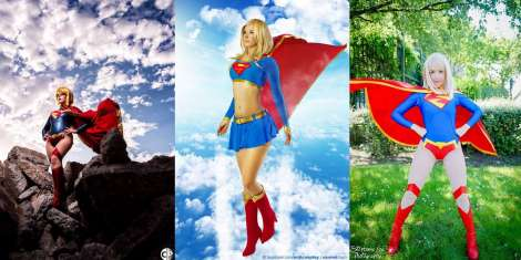 cosplay super girl wall