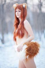 Fosya cosplay ecchi Holo (Russia)