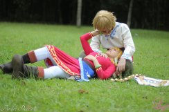 Layze Michelle Zelda cosplay from Skyward Sword cosplay Link Jean Marcel (namorado) o.o