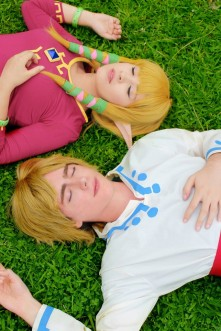 Layze Michelle Zelda cosplay from Skyward Sword cosplay Link Jean Marcel (namorado) o.o 4